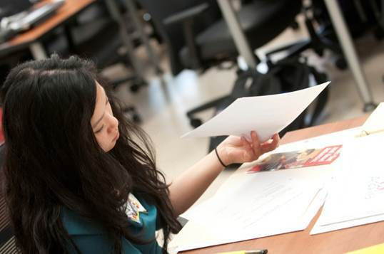 PA student taking test