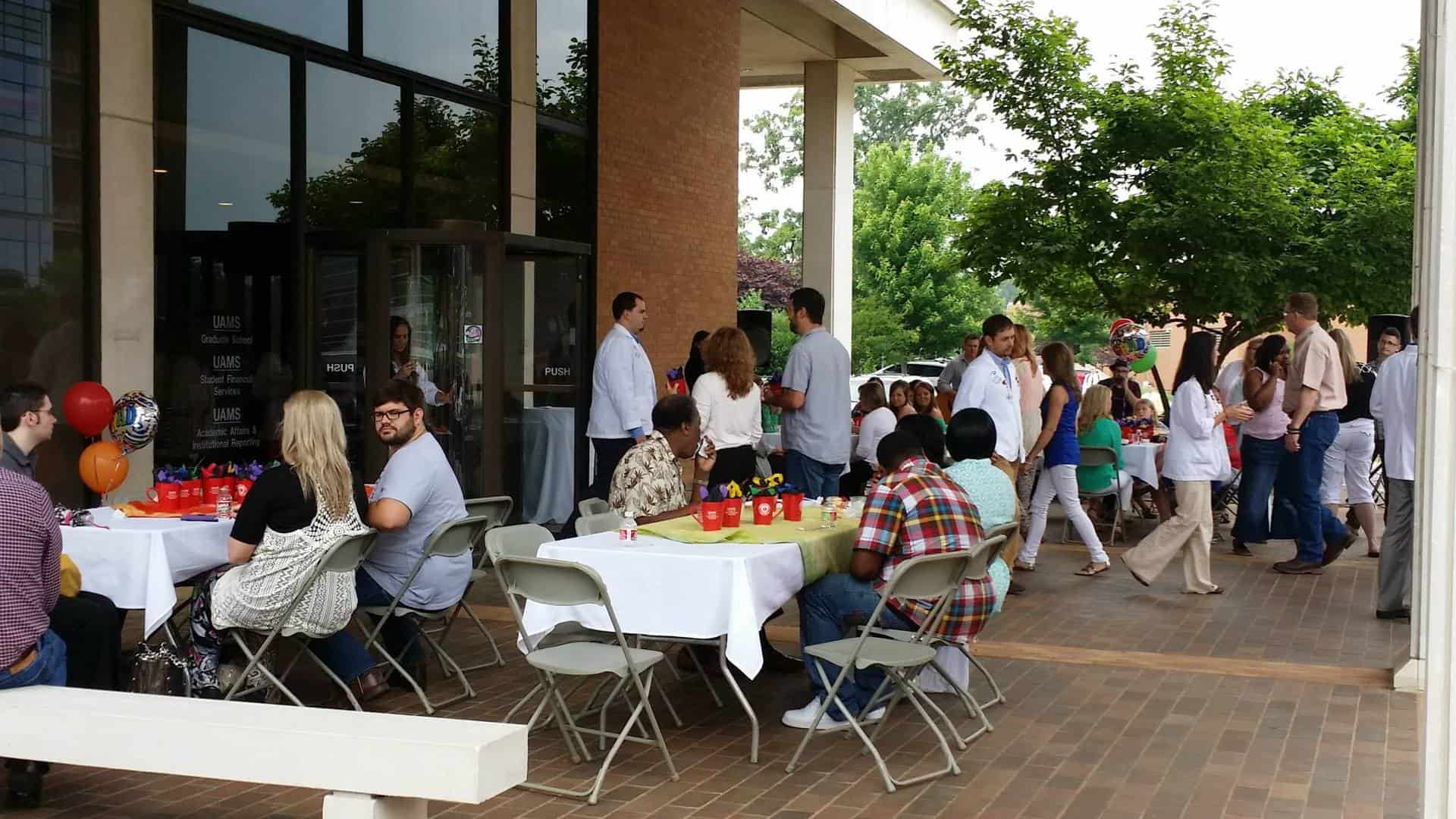 College of Health Professions graduates, families, friends and college faculty and staff gather for an informal pre-graduation brunch.