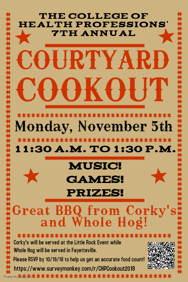 Courtyard Cookout Poster